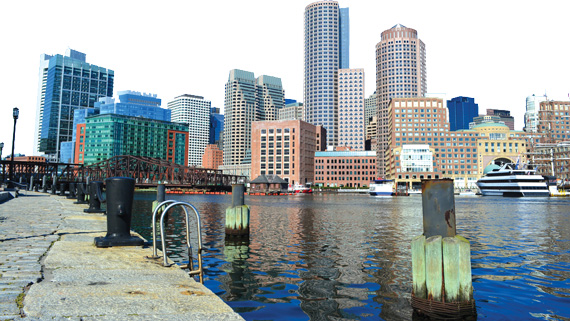 Seaport district in South Boston
