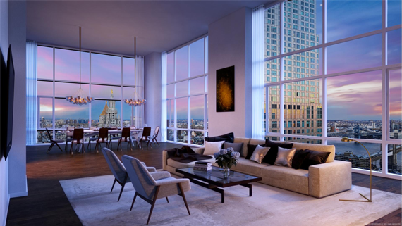 The penthouse at 5 Beekman in the Financial District