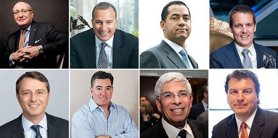 Clockwise from top left: Bruce Mosler, Sharif El-Gamal, Don Peebles, Chris Wien, Chris , Nick Mastrioinni, Jay Neveloff and Jonathan Miller