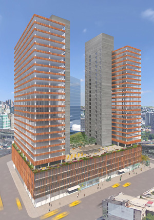 Rendering of Tishman Speyer's office development in Long Island City