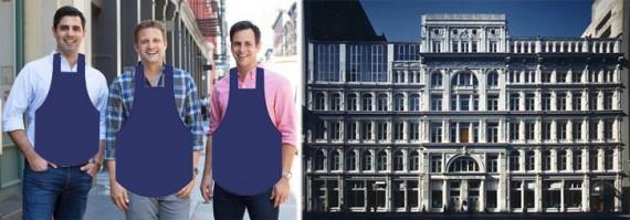 From left: Blue Apron cofounders llia Papas, CEO Matt Salzburg, Matt Wadiak and 40 West 23rd Street