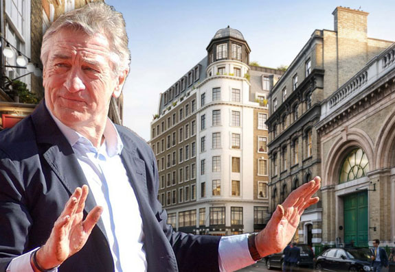 Robert De Niro and the Wellington Hotel site (photo credit: Angela George)