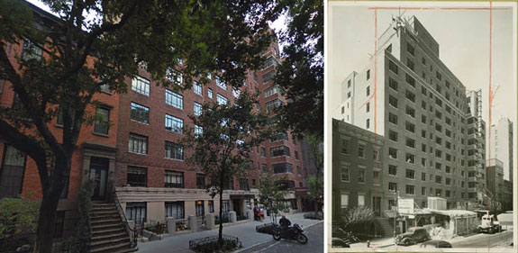 130 West 12th Street today and in 1940. (photo credit: Google Maps and the New York Public Library)