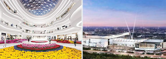 Renderings of American Dream at the Meadowlands (credit: Triple Five Worldwide)