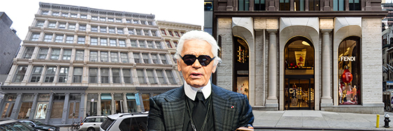 93-99 Greene Street, Karl Lagerfeld and Fendi's flagship store at 598 Madison Avenue (credit: Jenel)