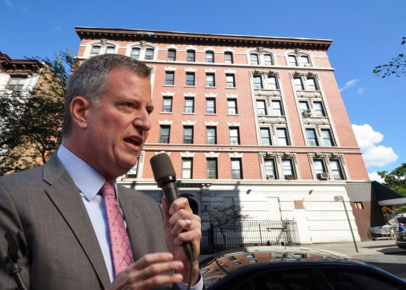 Bill de Blasio and 601 West 136th Street