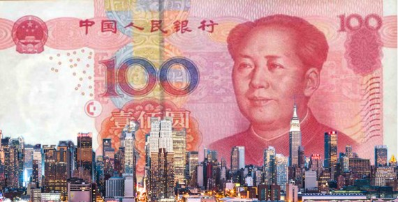 The Yuan bill and the New York City skyline