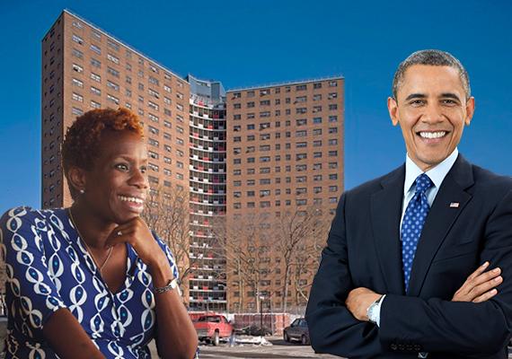 Shola Olatoye, Manhattanville houses and Barack Obama
