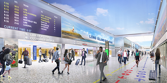 Rendering of renovated LIRR concourse