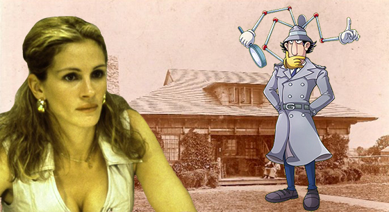 Julia Roberts as Erin Brockovich, Inspector Gadget and the Laffalot property at <a class=
