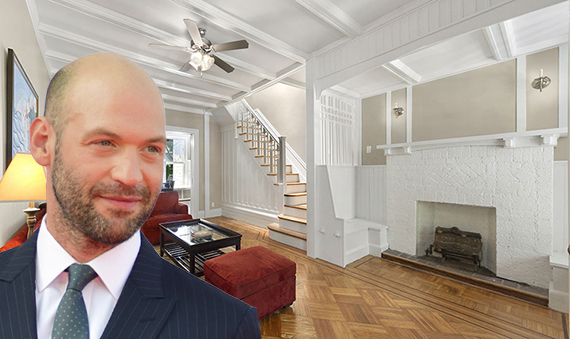 Corey Stoll and his Brooklyn townhouse (Image Credit : Red Carpet Report on Mingle Media TV via Wikimedia & Corcoran)