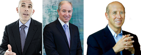 From left: Scott Rechler, Stephen Schwarzman and Barry Sternlicht