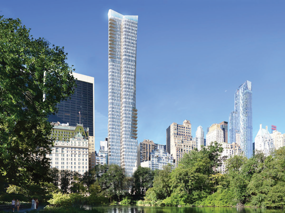 A rendering of the Witkoff Group's 1 Park Lane
