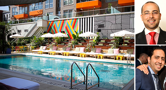 The McCarren Hotel & Pool at 160 North 12th Street (inset from top: Josh Rahmani and Ebi Khalili)