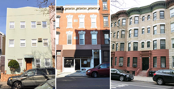 From left: 135 Devoe Street, 147 Grand Street and 244 New York Avenue