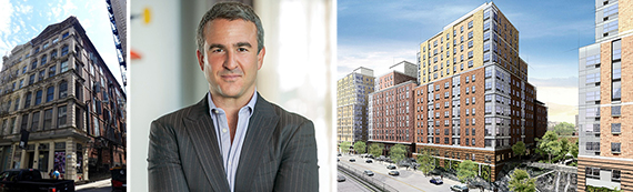 79 Walker Street in Tribeca, Joshua Caspi and rendering of Compass Residences in the Bronx