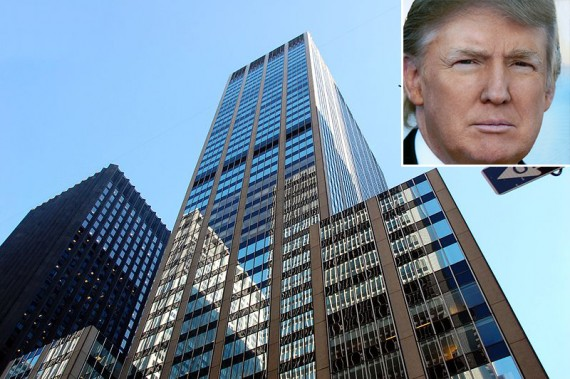 1290 Sixth Avenue (inset: Donald Trump)
