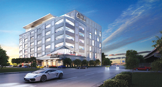 Rendering of AutoHouse in Miami