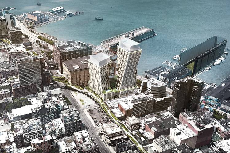 Rendering of the Eleventh located along the High Line (Credit: Big-Bjarke Ingels Group)
