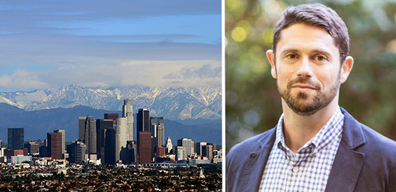 From Left: Los Angeles (one of the cities Fundrise's new West Coast REIT aims to invest in) and Ben Miller