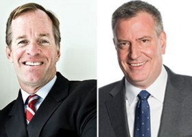 Paul Massey and Bill de Blasio