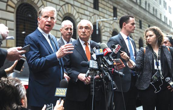 Manhattan District Attorney Cyrus Vance Jr., left.