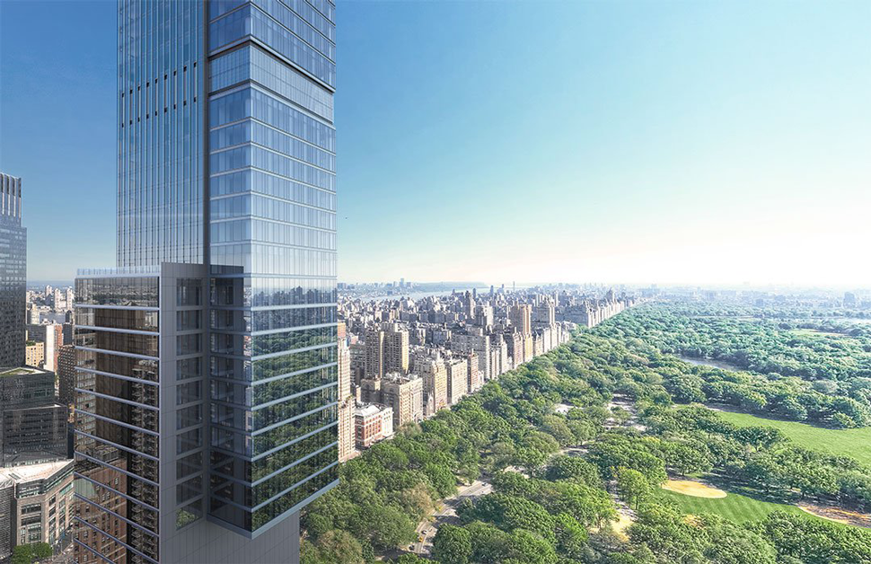 A rendering of Central Park Tower (Credit: New York YIMBY)