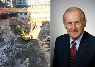From left: Groundbreaking for SL Green's One Vanderbilt and Richard Anderson