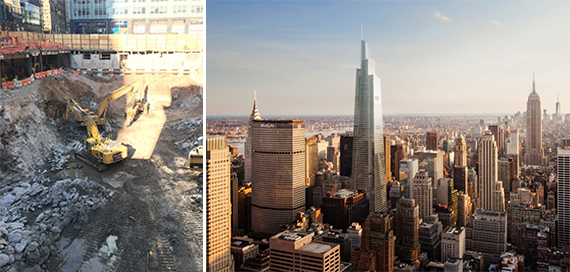 One Vanderbilt groundbreaking and rendering
