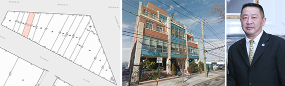 Tax map of 555 Fulton Street in Downtown Brooklyn, 14-34 110th Street in College Point and Sam Chang