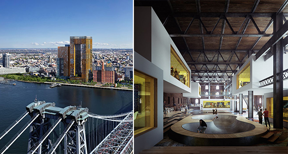 Renderings of the Domino Sugar factory campus (credit: Two Hands)