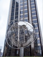The globe outside Trump International Hotel in Columbus Circle