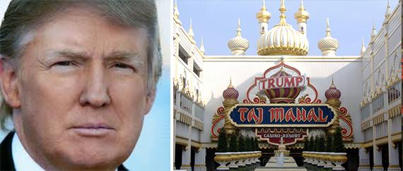 Donald Trump and the Taj Mahal in Atlantic City