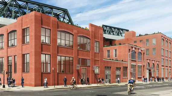 Rendering of 94 Ninth Street (credit: Morris Adjmi)