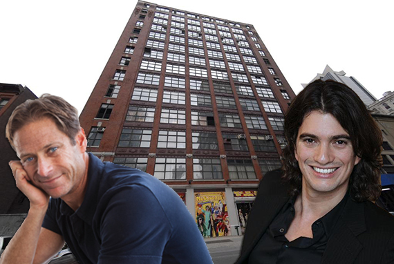 From left: Billy Macklowe, 311 West 43rd Street and Adam Neumann
