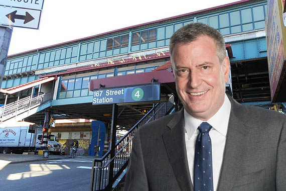 167th Street Station in the Bronx and Bill de Blasio