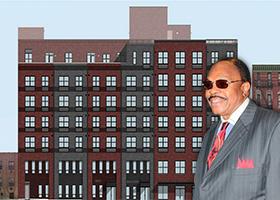 Rendering of 260 West 153rd Street and Derek Broomes