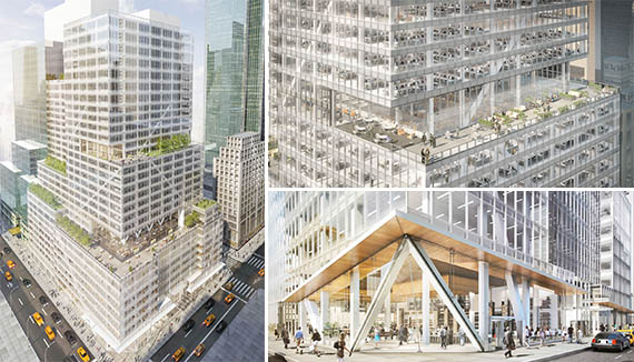 Renderings of 390 Madison Avenue