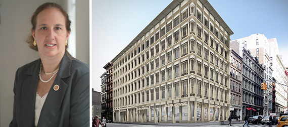 From left: Gale Brewer and 529 Broadway (credit: BKSK Architects)