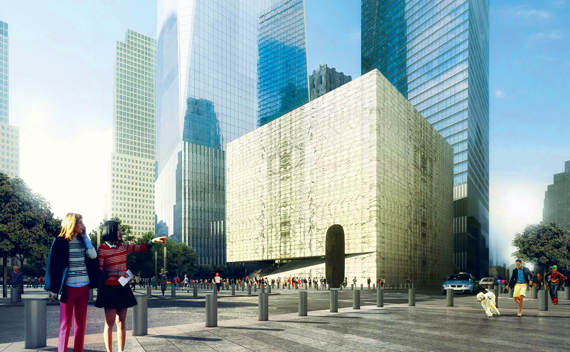 Renderings of the Ronald O. Perelman Performing Arts Center