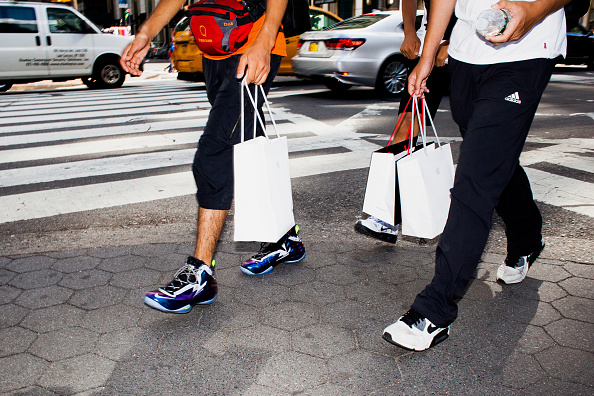 Shoppers in New York Cit(credit: via Getty Images
