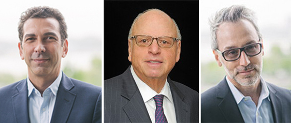 From left: Herve Senequier, Howard Lorber and Leonard Steinberg