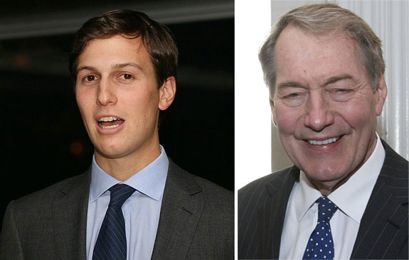 Jared Kushner and Charlie Rose