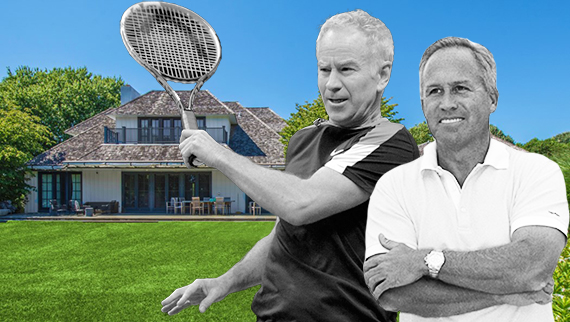 John McEnroe, Joe Farrell and McEnroe's residence at