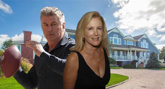 Alec Baldwin, Leslie Crocker Snyder and the house at 137 Fowl Street (Credit: Getty, Douglas Elliman)