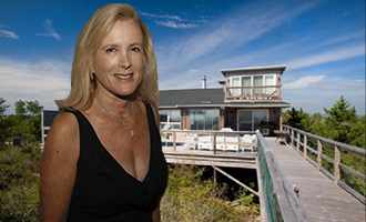 Leslie Crocker Snyder and her house at 1400 Meadow Lane (Credit: Getty, StreetEasy)