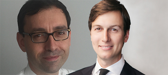 Laurent Morali and Jared Kushner (credit: Kushner Companies)
