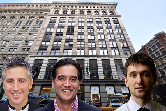 From left: 568 Broadway and Oliver Kharraz, Cyrus Massoumi and Ben Lerer
