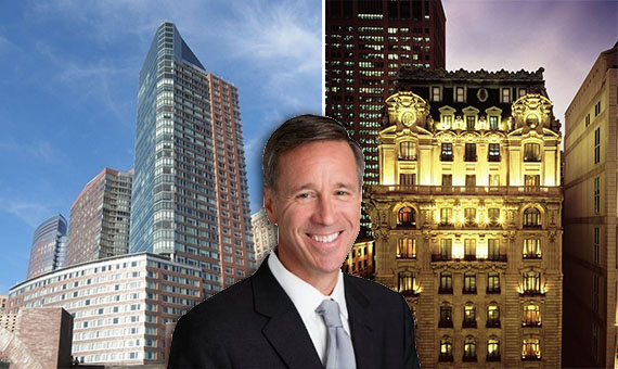 From left: the Ritz Carlton at 2 West Street, Marriott's Arne Morris Sorenson and the St. Regis at 2 East 55th Street
