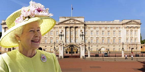 Buckingham Palace (inset: Queen Elizabeth II)
